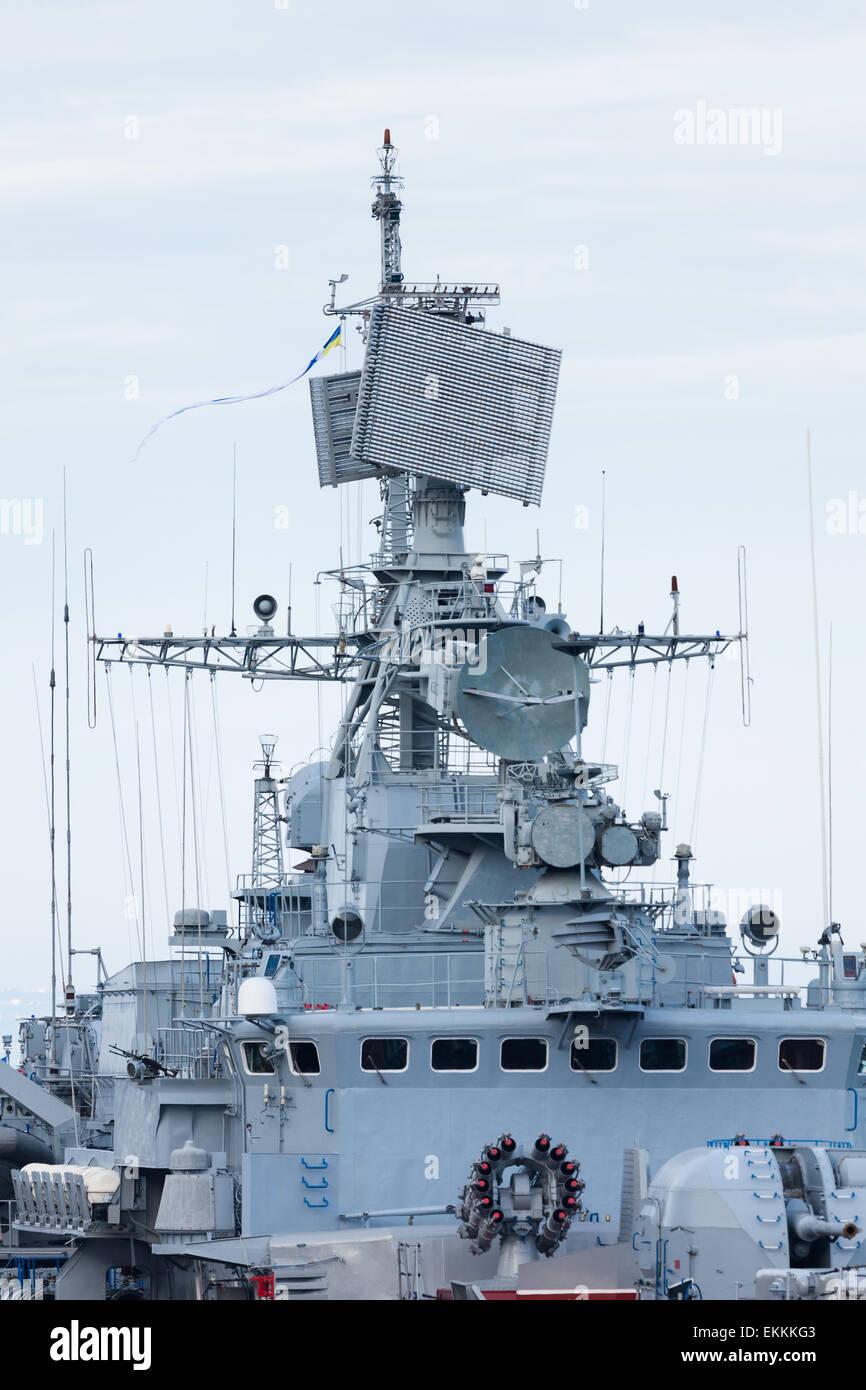 warship bridge - Stock Image