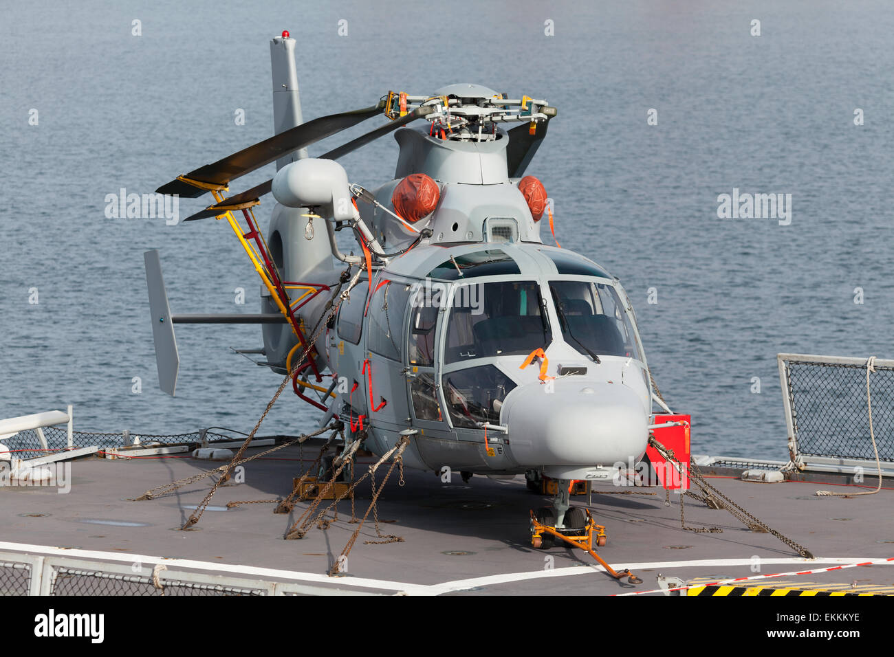 navy rescue helicopter - Stock Image