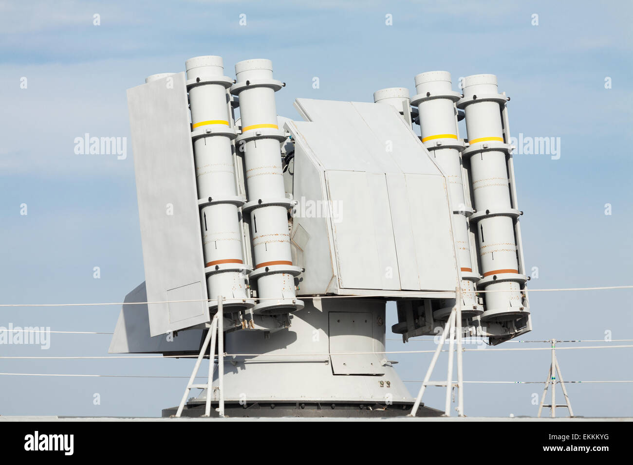 antiaircraft defence rocket launcher - Stock Image