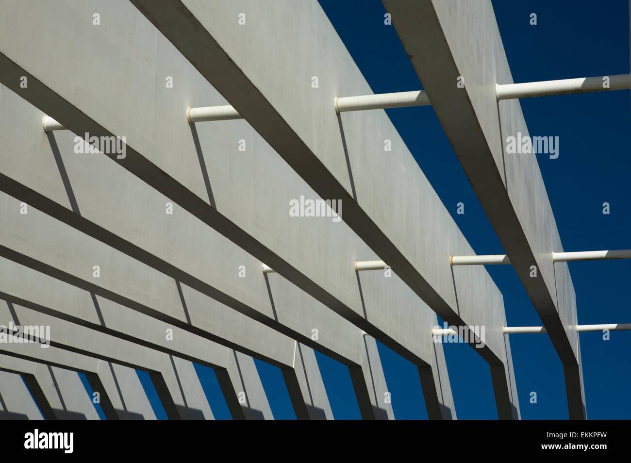 Modern Pergola Made Of Concrete Materials Stock Photo Alamy