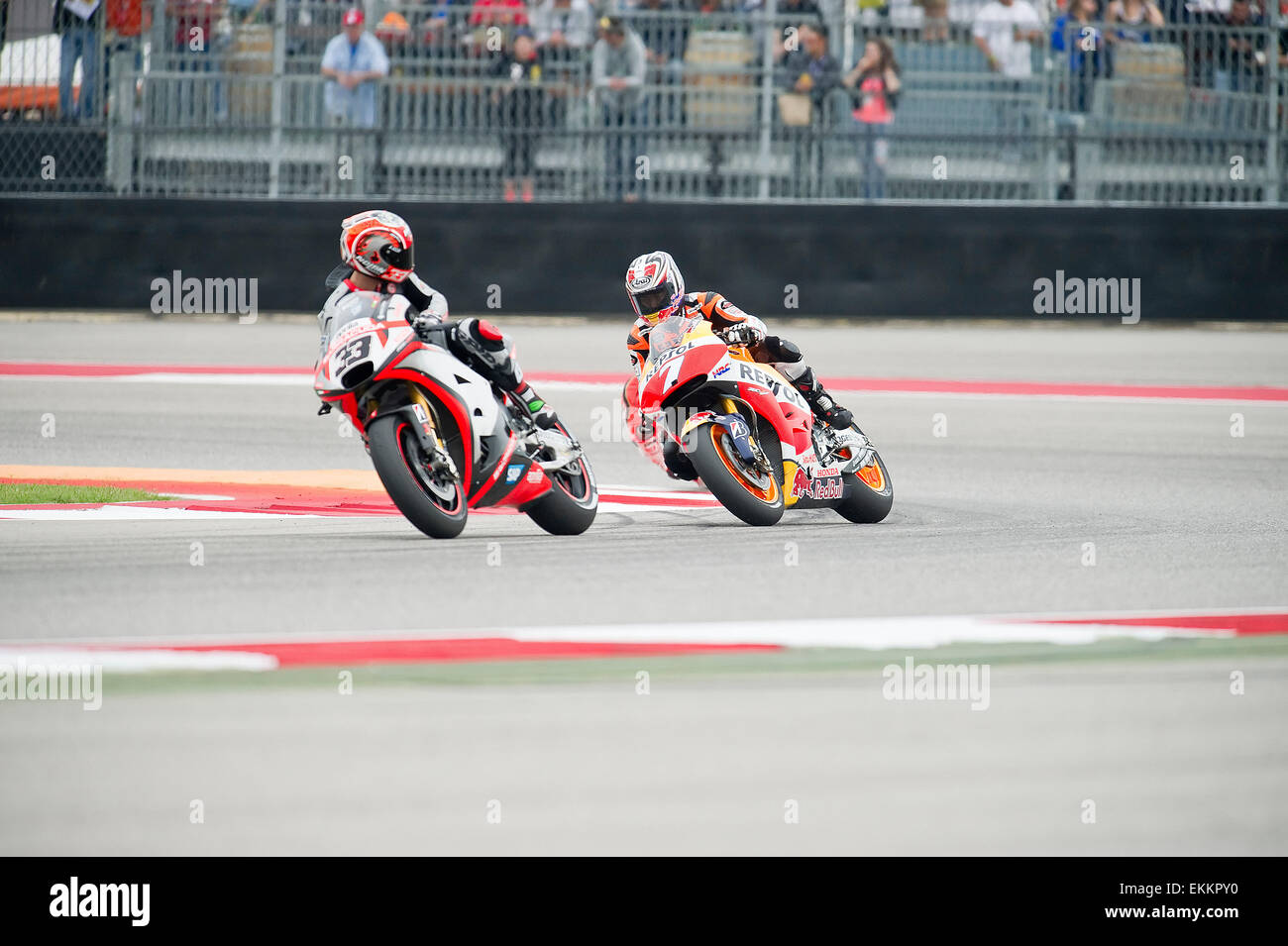 Austin, Texas, USA. 11th April, 2015. MotoGP Marco Melandri #33 with ...