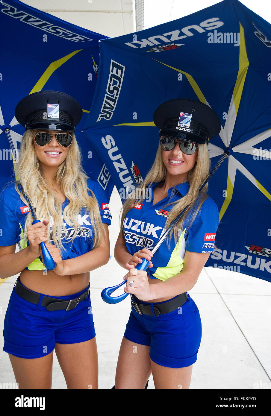 Austin, Texas, USA. 11th April, 2015. MotoGP Grid Girls in action at Stock Photo: 80955041 - Alamy