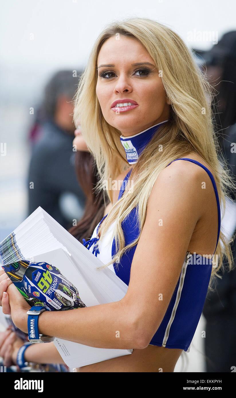 Austin, Texas, USA. 11th April, 2015. MotoGP Paddock Girls in action Stock Photo: 80955045 - Alamy
