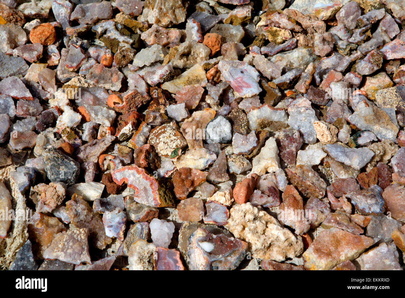 Geodes are geological secondary sedimentary structures which occur in sedimentary and certain volcanic rocks. Geodes - Stock Image