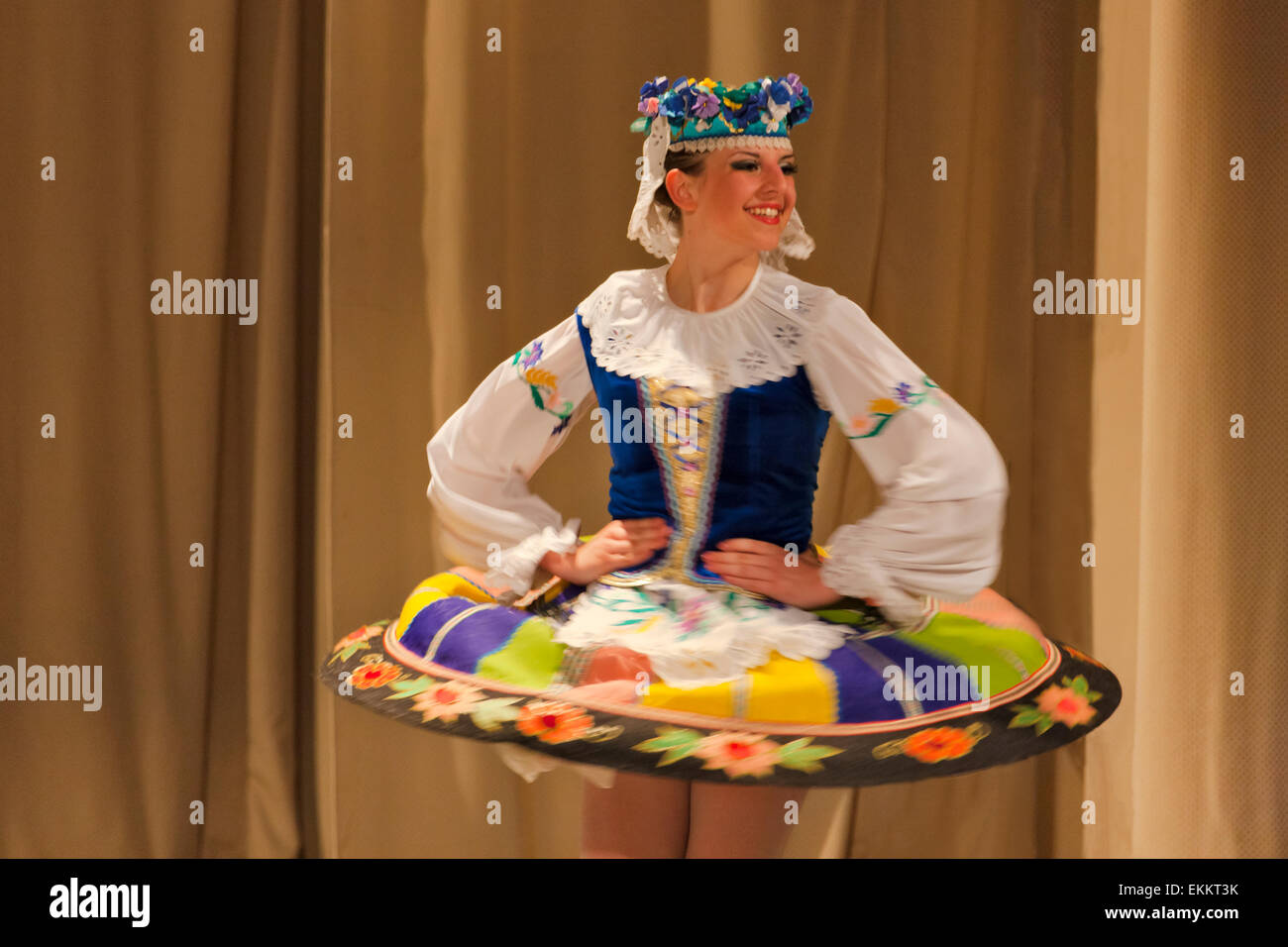 Folk dance performance, Minsk, Belarus - Stock Image
