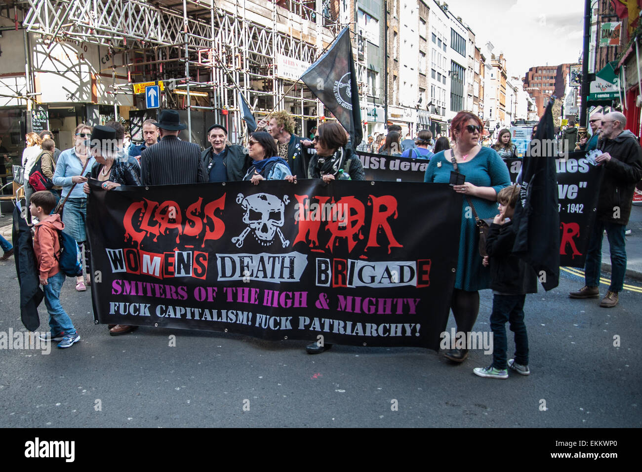 London, UK. 11 April, 2015. Adam Clifford aka Jimmy Kunt, the Class War Candidate for the City of London and Westminster - Stock Image