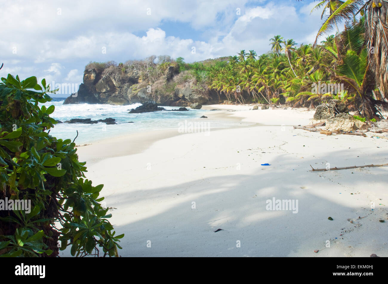 white sandy dolly beach christmas island australia stock image