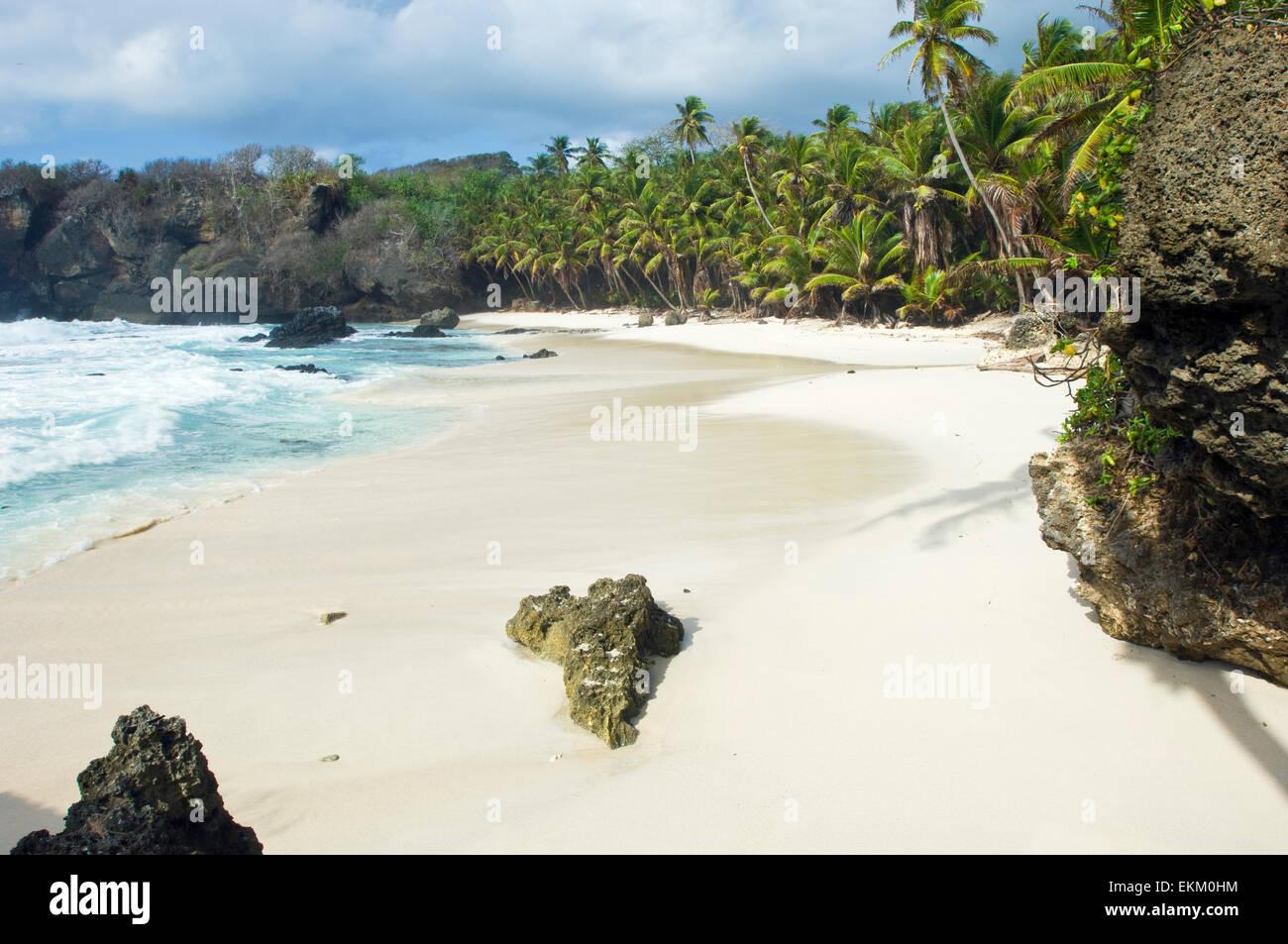 White, sandy Dolly Beach, Christmas Island, Australia Stock Photo ...
