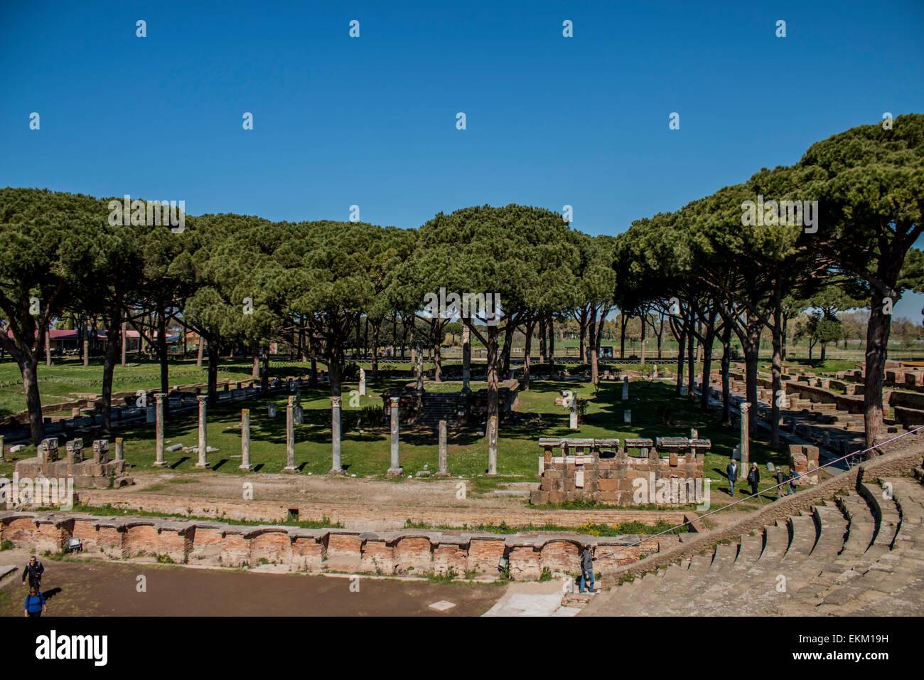 Ostia Antica, amphitheater - Stock Image