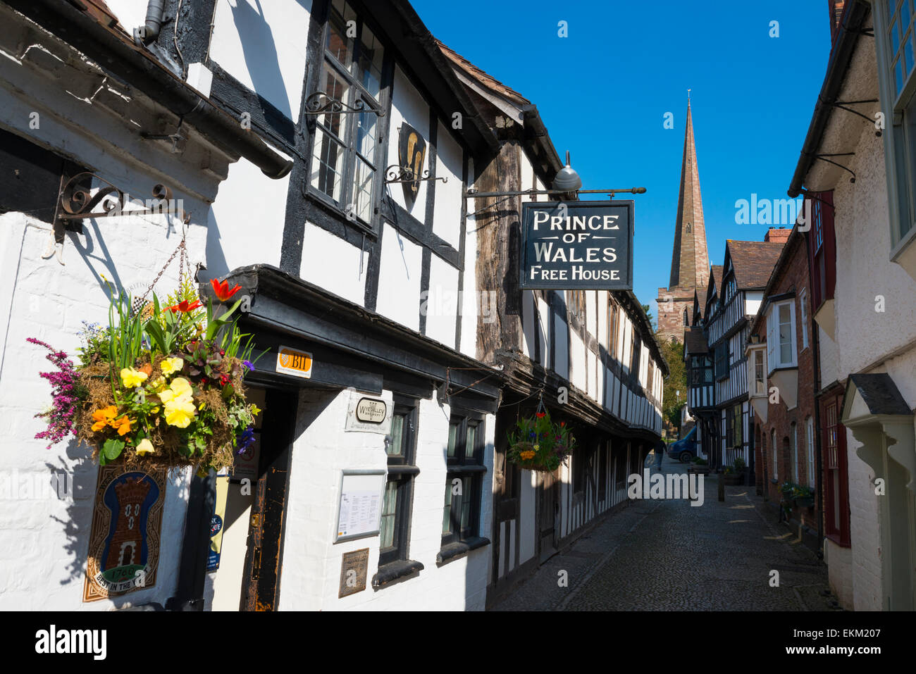 Prince of Wales pub in Church Lane, Ledbury, Herefordshire, England. - Stock Image