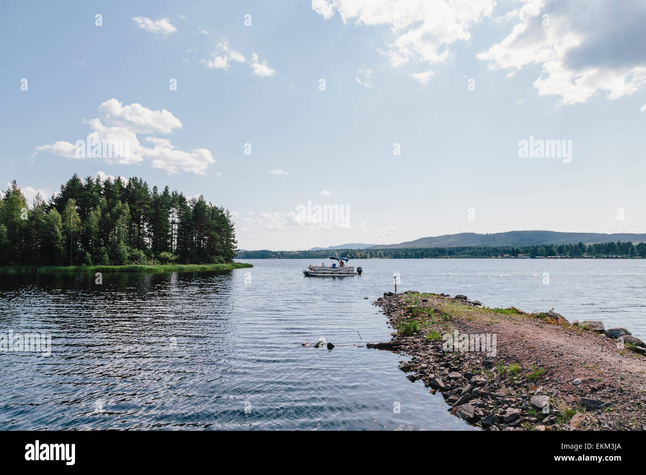 Lake Siljan in Mora, Dalarna County, Sweden - Stock Image