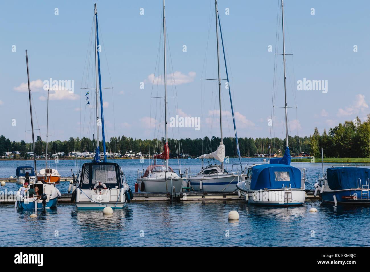 Lake Siljan in Mora, Dalarna County, Sweden - Stock Image