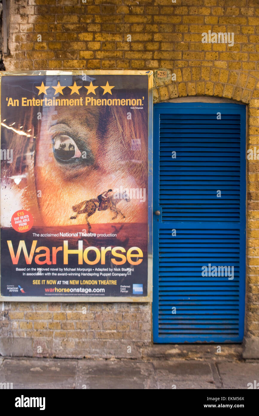Advertisement for the production of War Horse New London Theatre Stock Photo