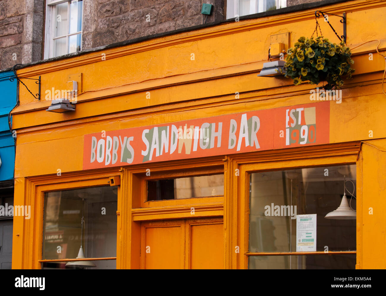 Sandwich bar named after Greyfriars Bobby, a dog who became synonymous with loyalty after guarding his master's - Stock Image