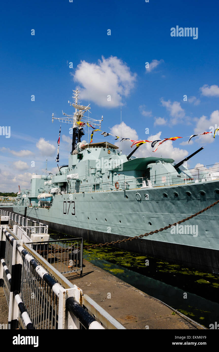 HMS Cavalier is the last operational Second World War C-class destroyer of the Royal Navy, now retired and preserved Stock Photo