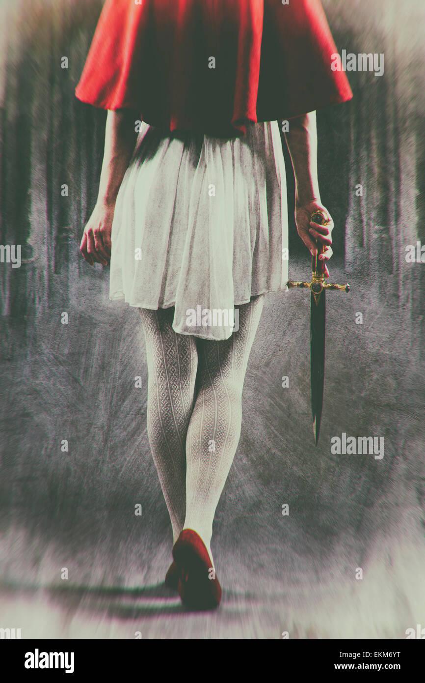 Female assassin - Stock Image