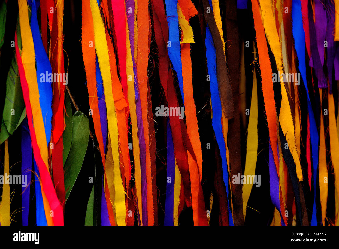 colorful cloth - Stock Image