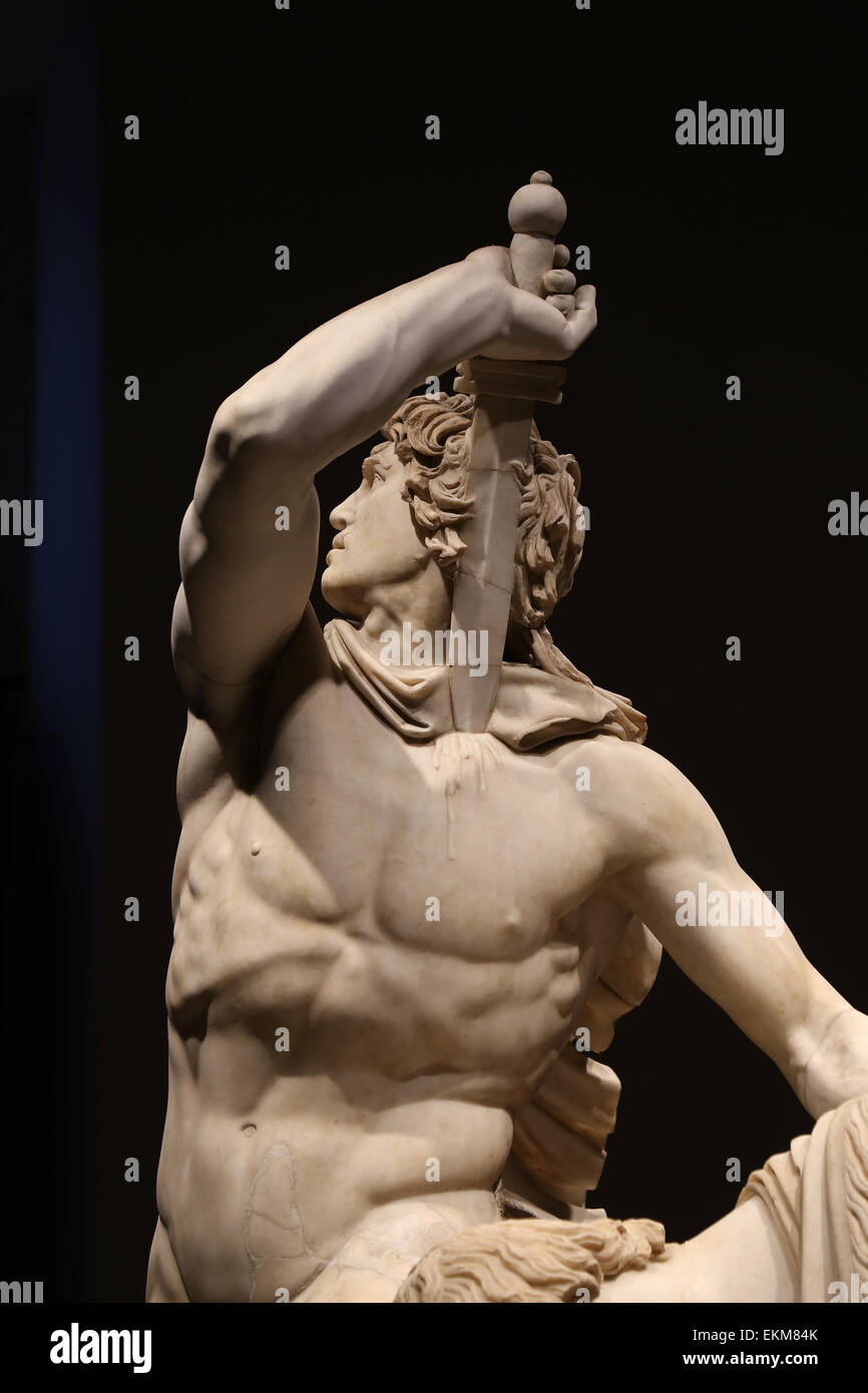 Ludovisi Gaul Killing Himself an his Wife. Roman copy, 2nd c., of Hellenistic original by Attalus, 3rd c. BC. Rome. - Stock Image