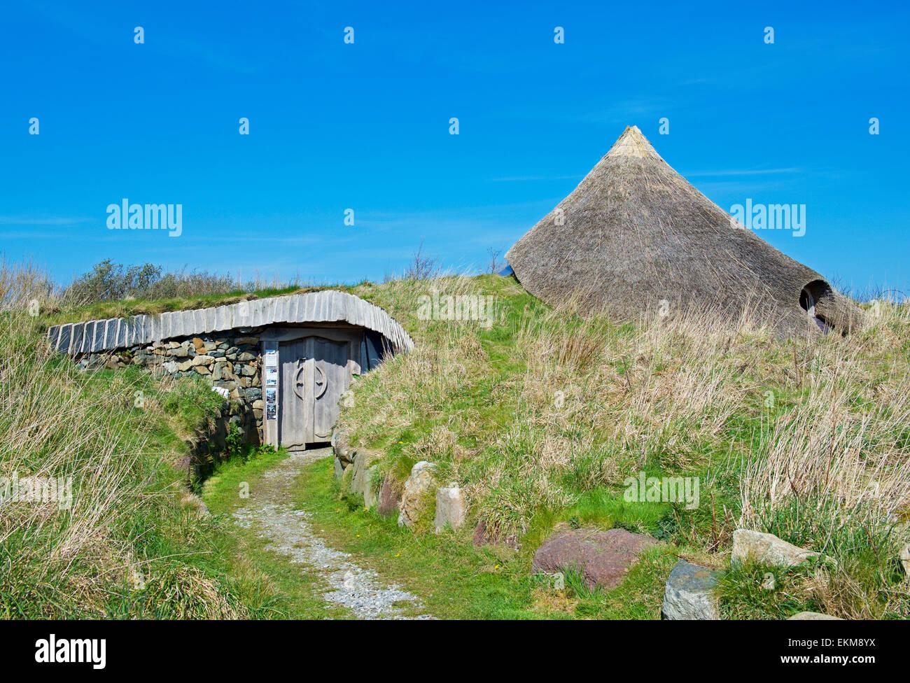 Roundhouse at the Felin Uchaf educational centre, Llyn Peninsular, Gwynedd, North Wales UK - Stock Image