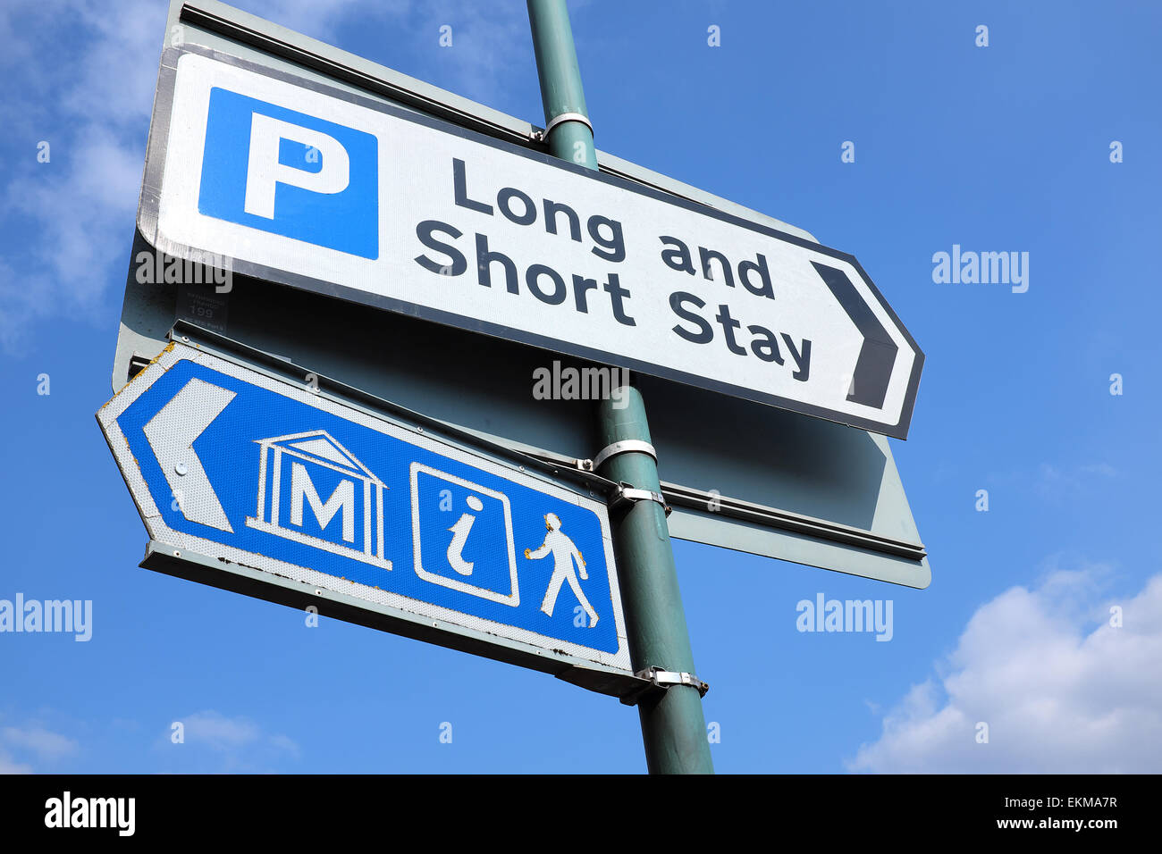 UK ROAD SIGNS - Stock Image