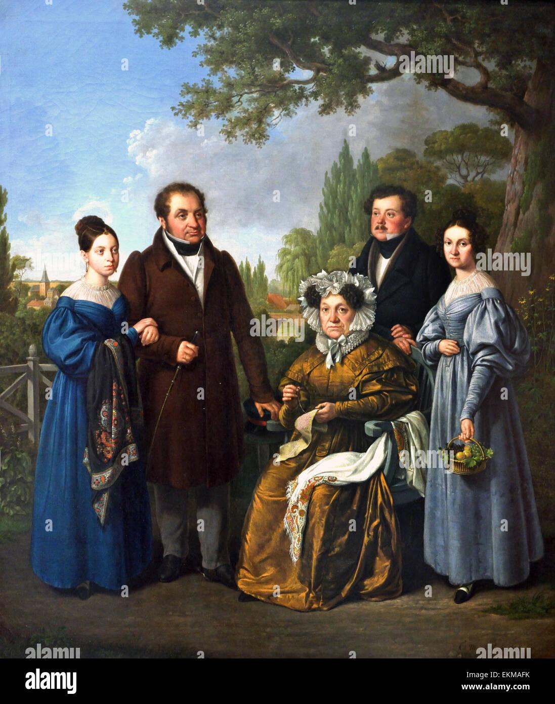 Windgassen Family 1834 Egidius Mengelberg 1770-1849 German Germany - Stock Image