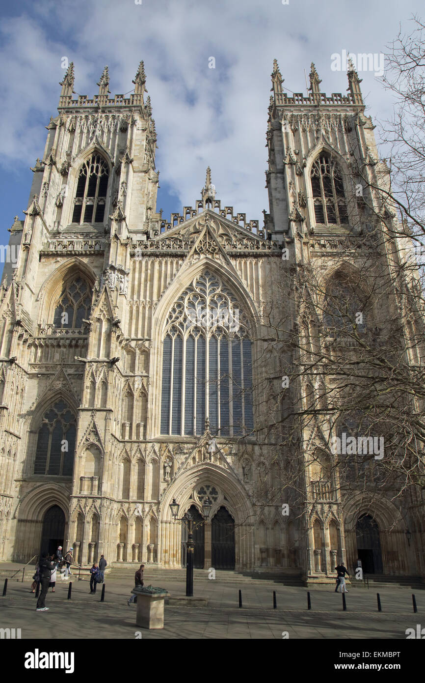 exterior views of york minster in the city of york england Stock Photo