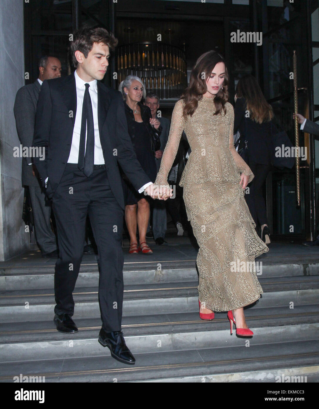 Keira Knightley and husband James Righton leave their hotel