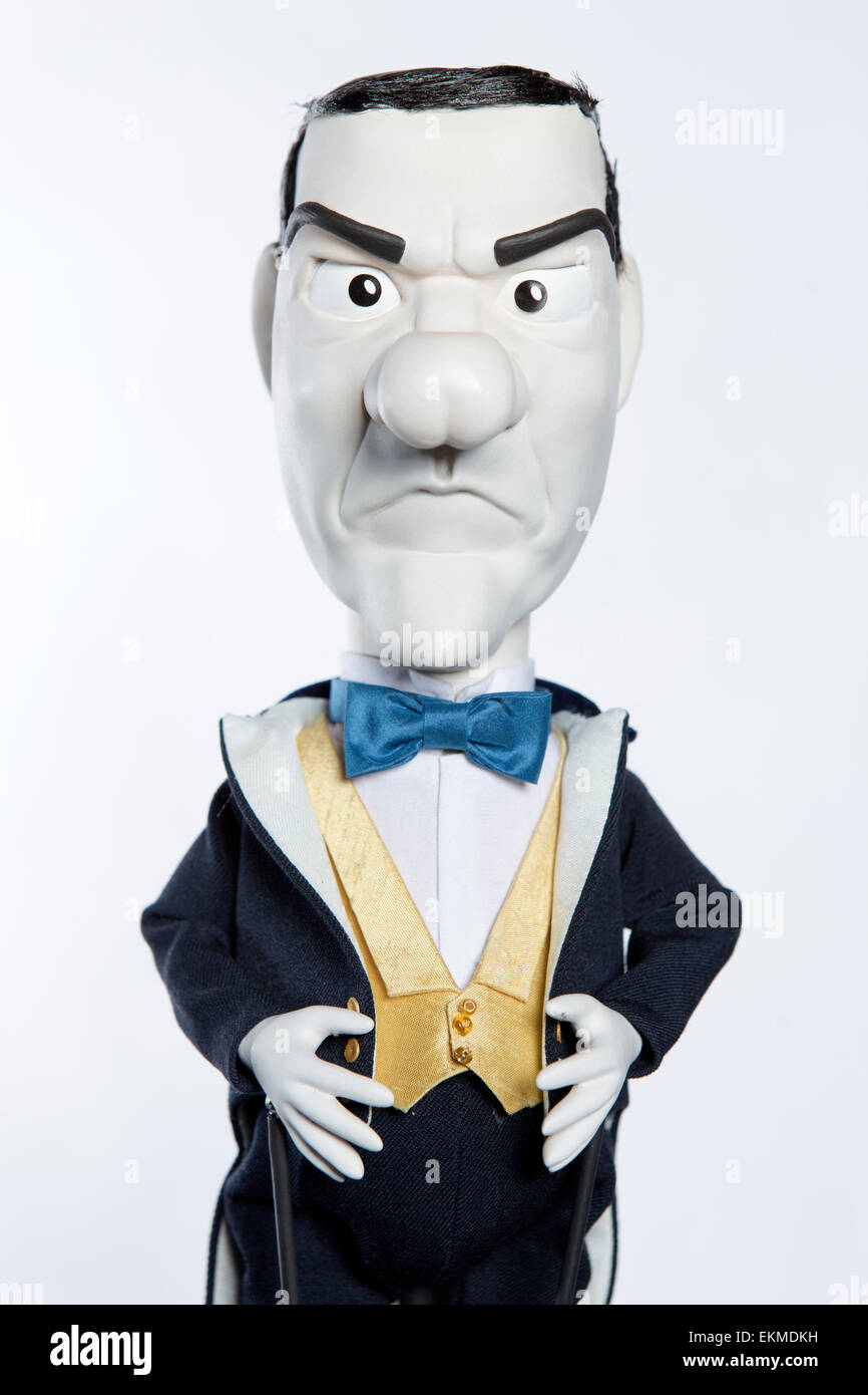 Newzoids puppets.   George Osborne. - Stock Image