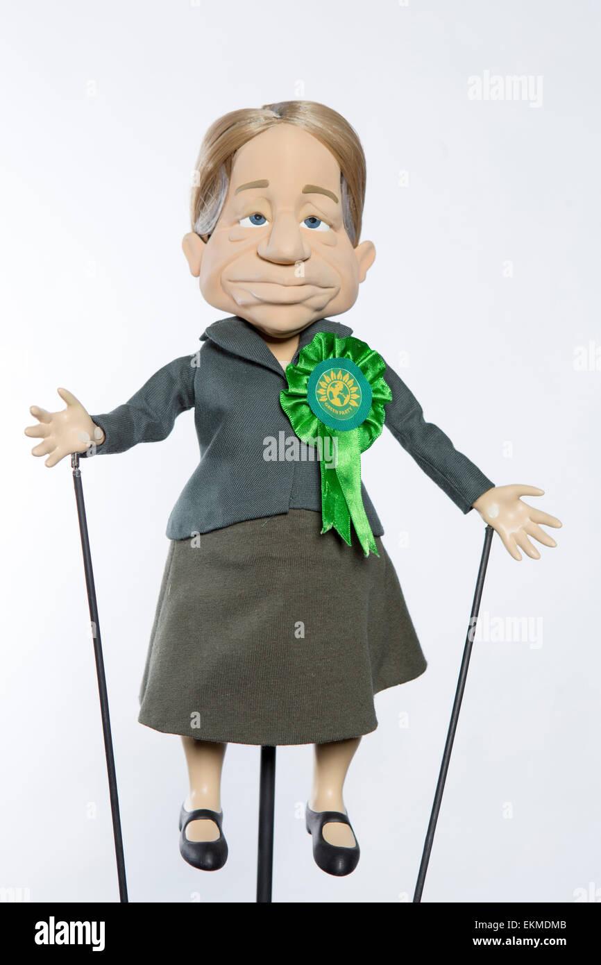 Newzoids puppets.   Natalie Bennett - Stock Image