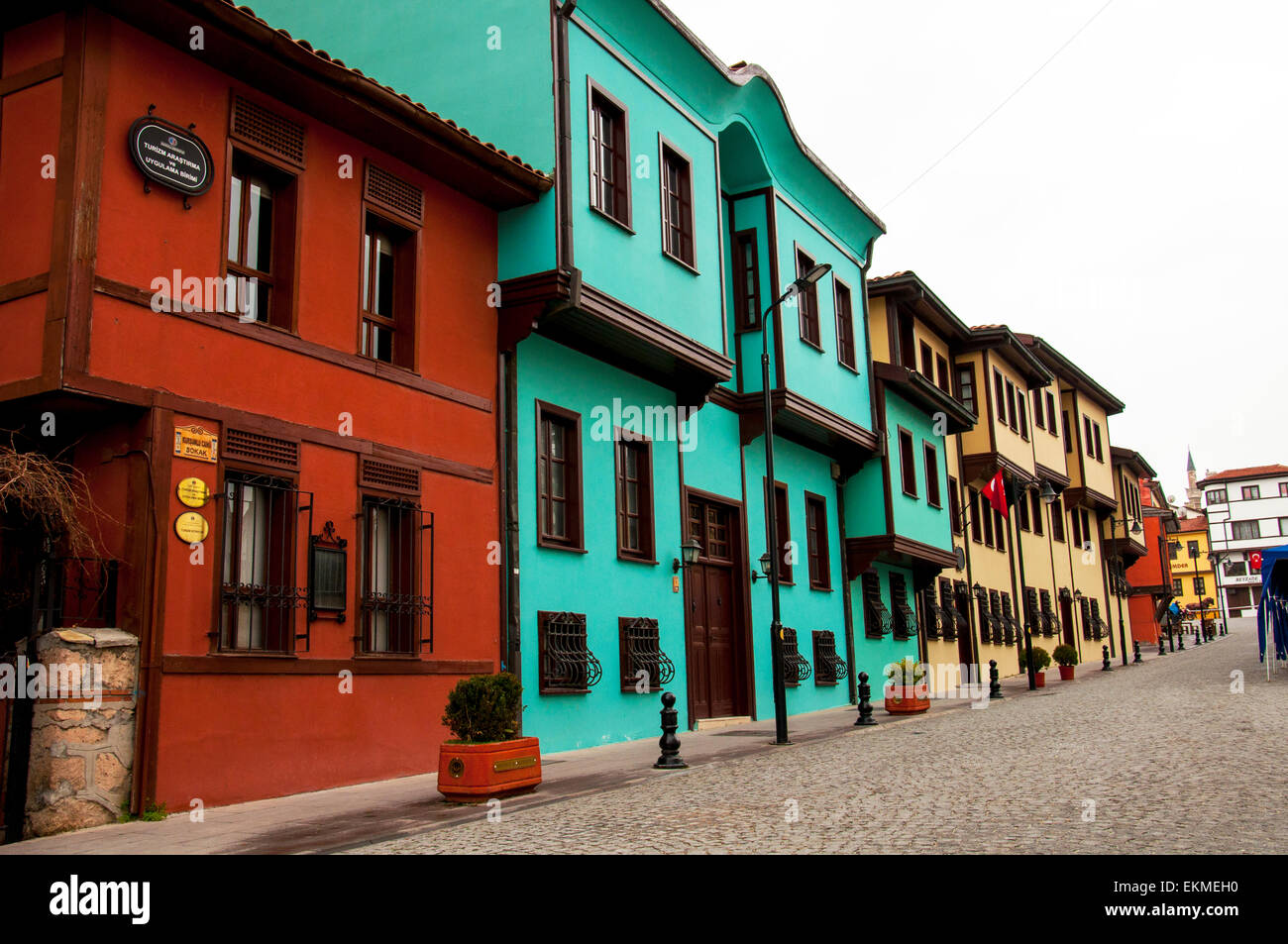 Old historical Turkish Houses - Stock Image