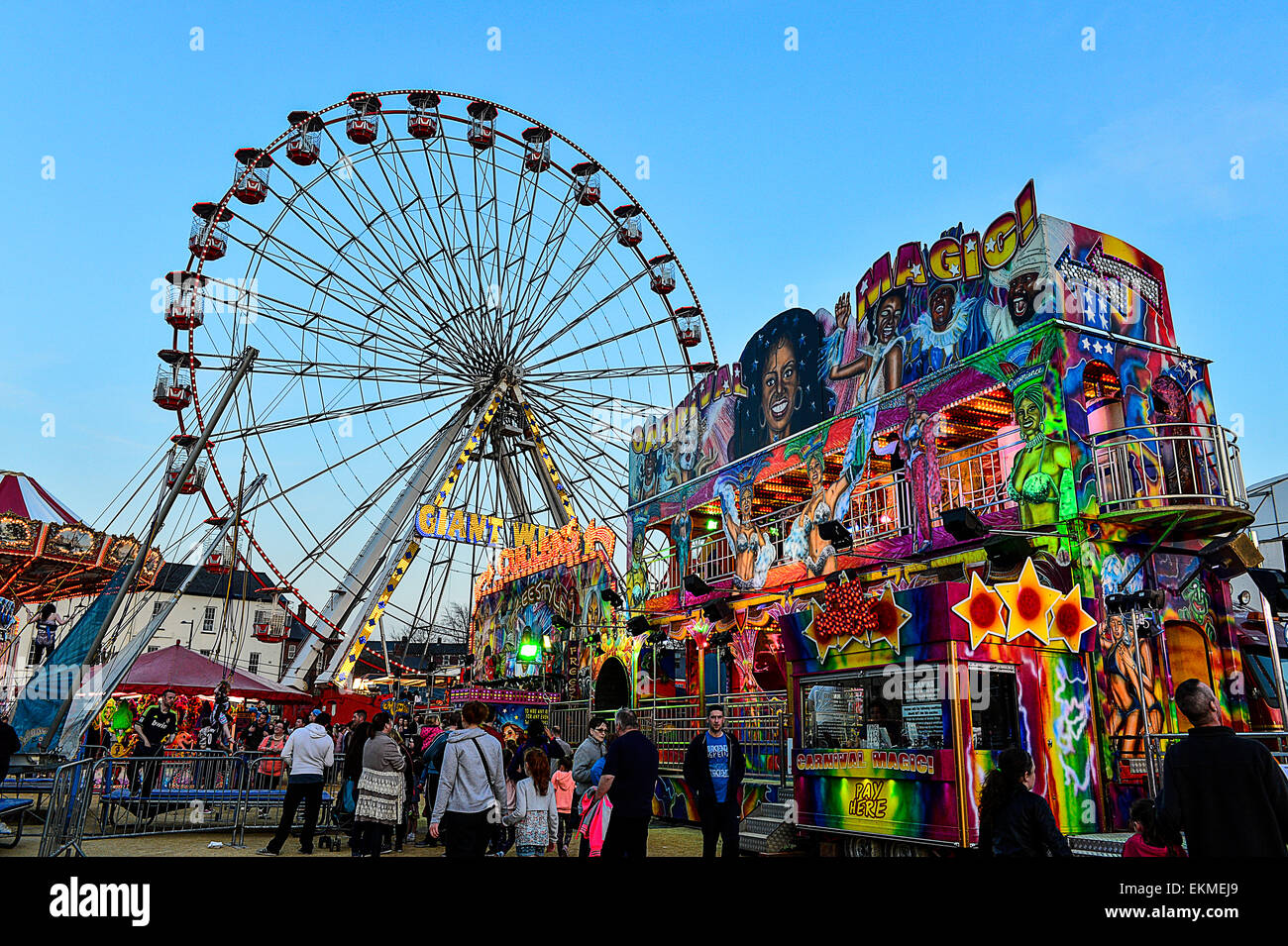 Cullens amusements in Ebrington Square, Londonderry, Derry, Northern Ireland. - Stock Image