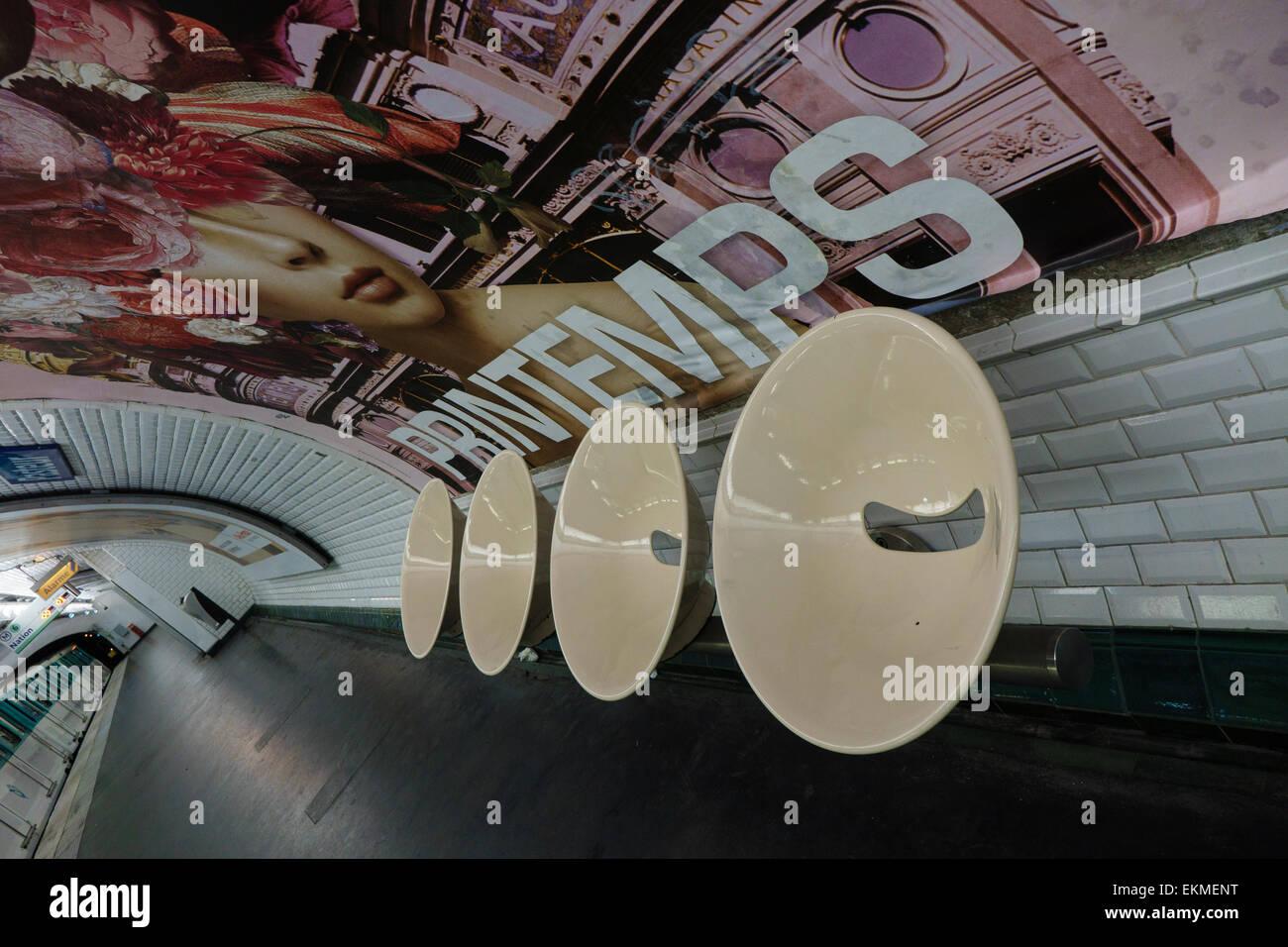 Metro Station Paris - Stock Image