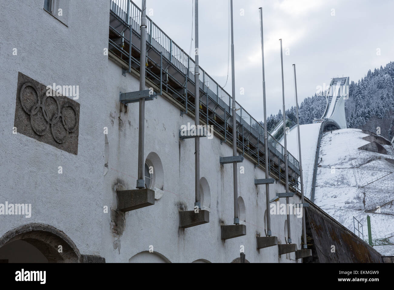 The Ski Jump stadium at the site of the 1936 Winter ...