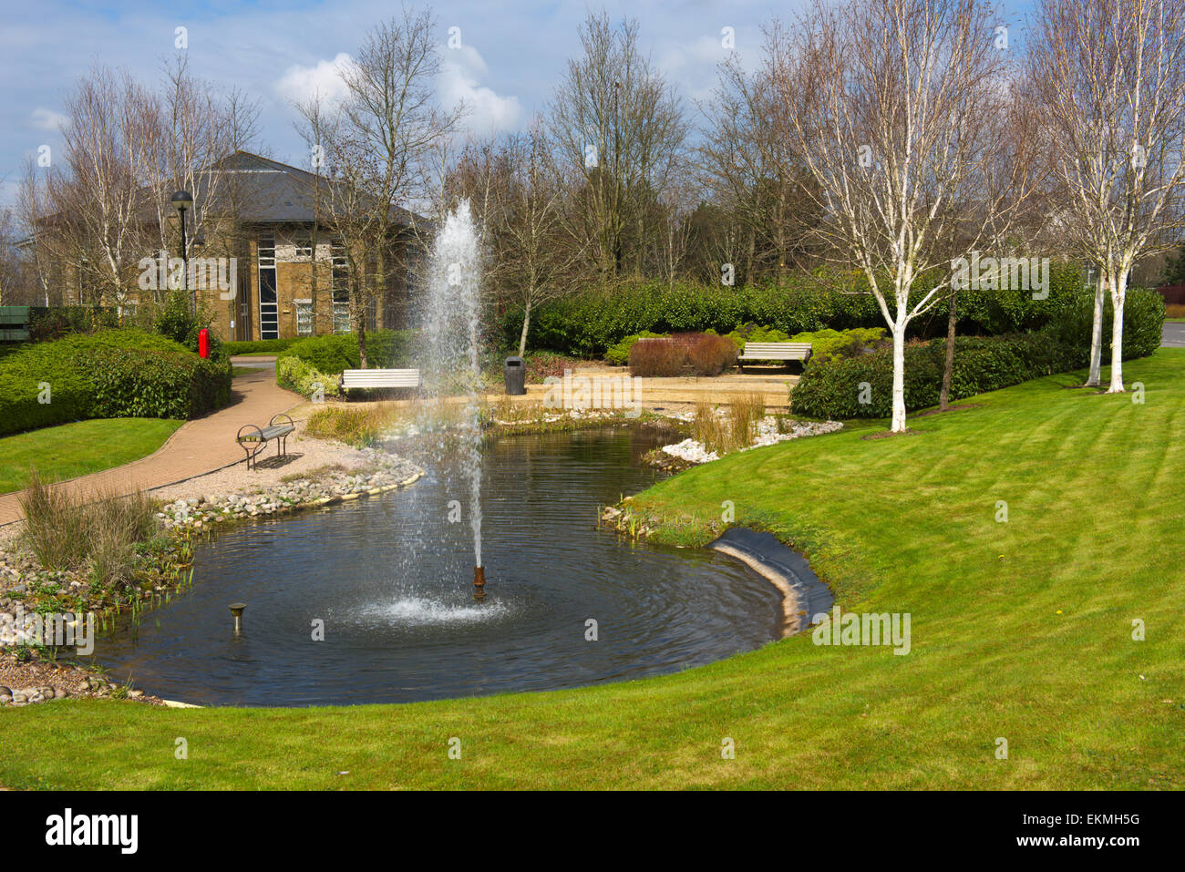 Water Feature In Office Park. Bristol Business Park, Stoke Gifford