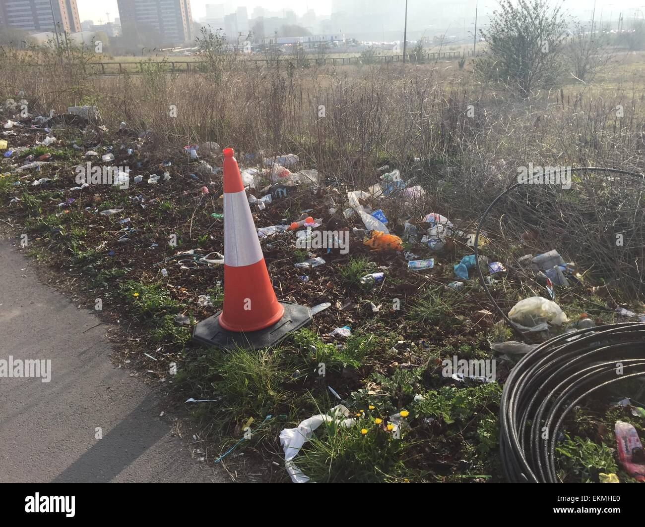 Littering in Manchester - Stock Image