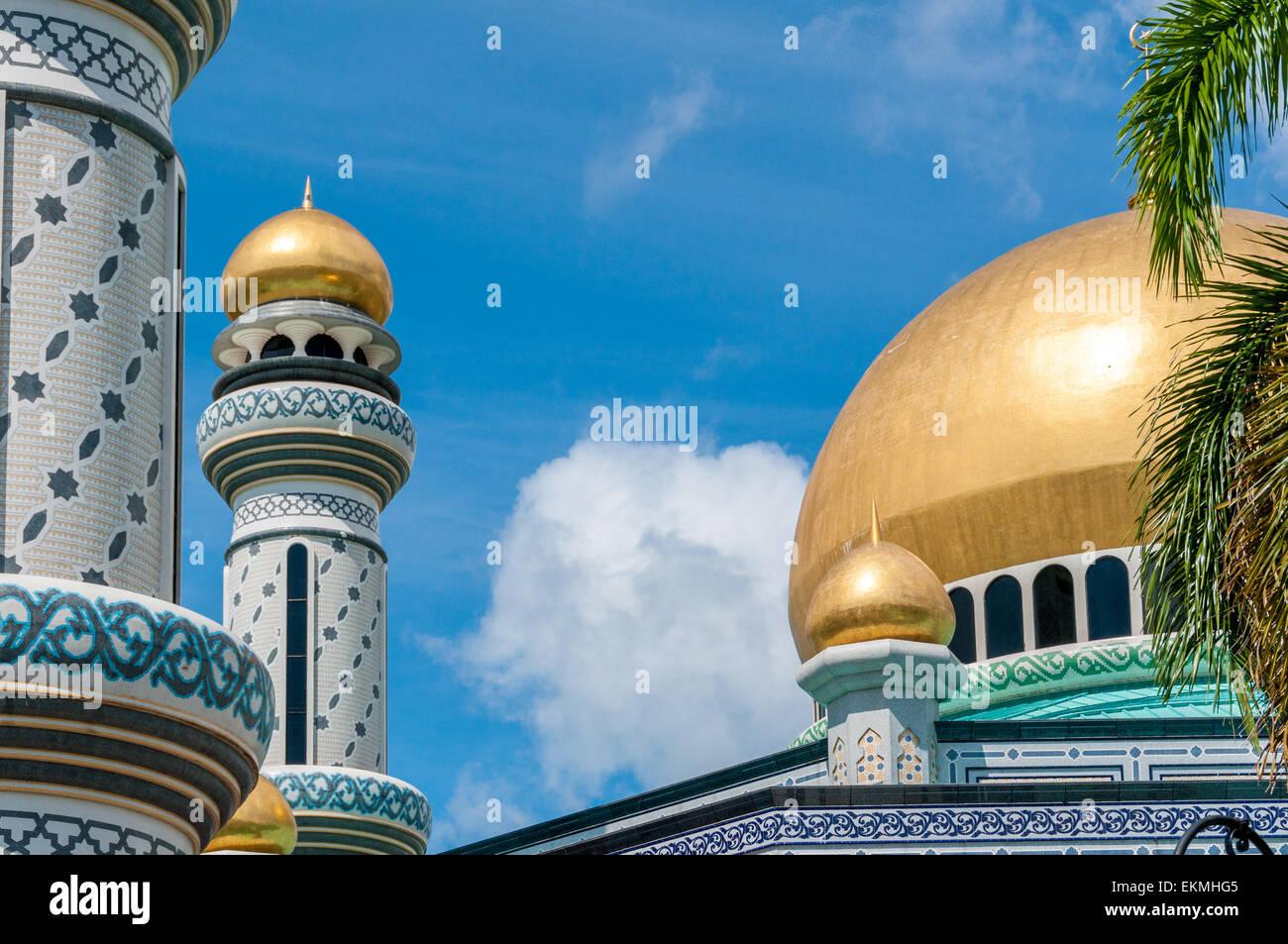 Jame'asr Hassanil Bolkiah Mosque, Bandar Seri Begawan, Brunei - Stock Image