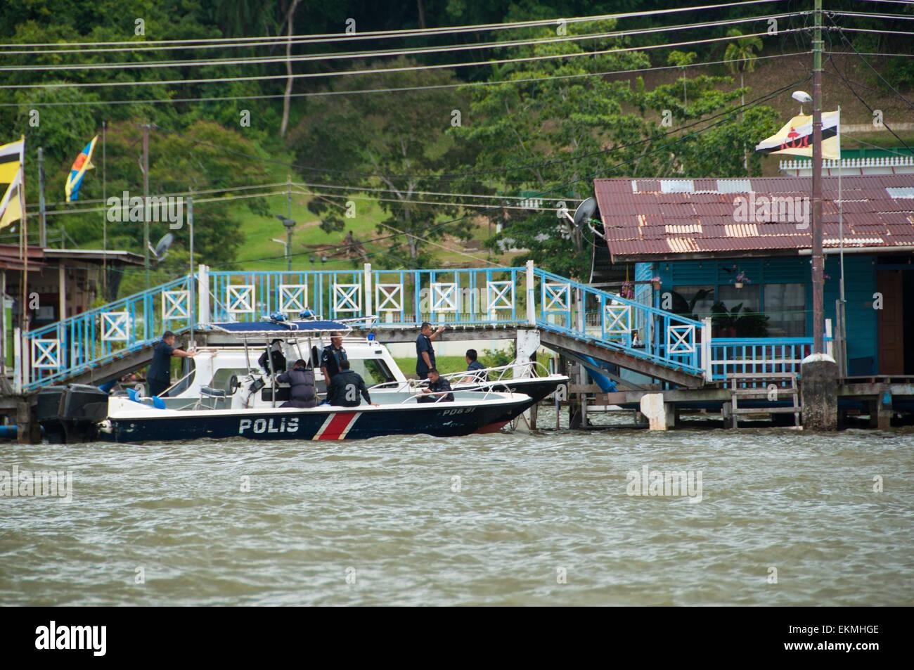 The Water village of Kampong Ayer, Bandar Seri Begawan, Brunei - Stock Image