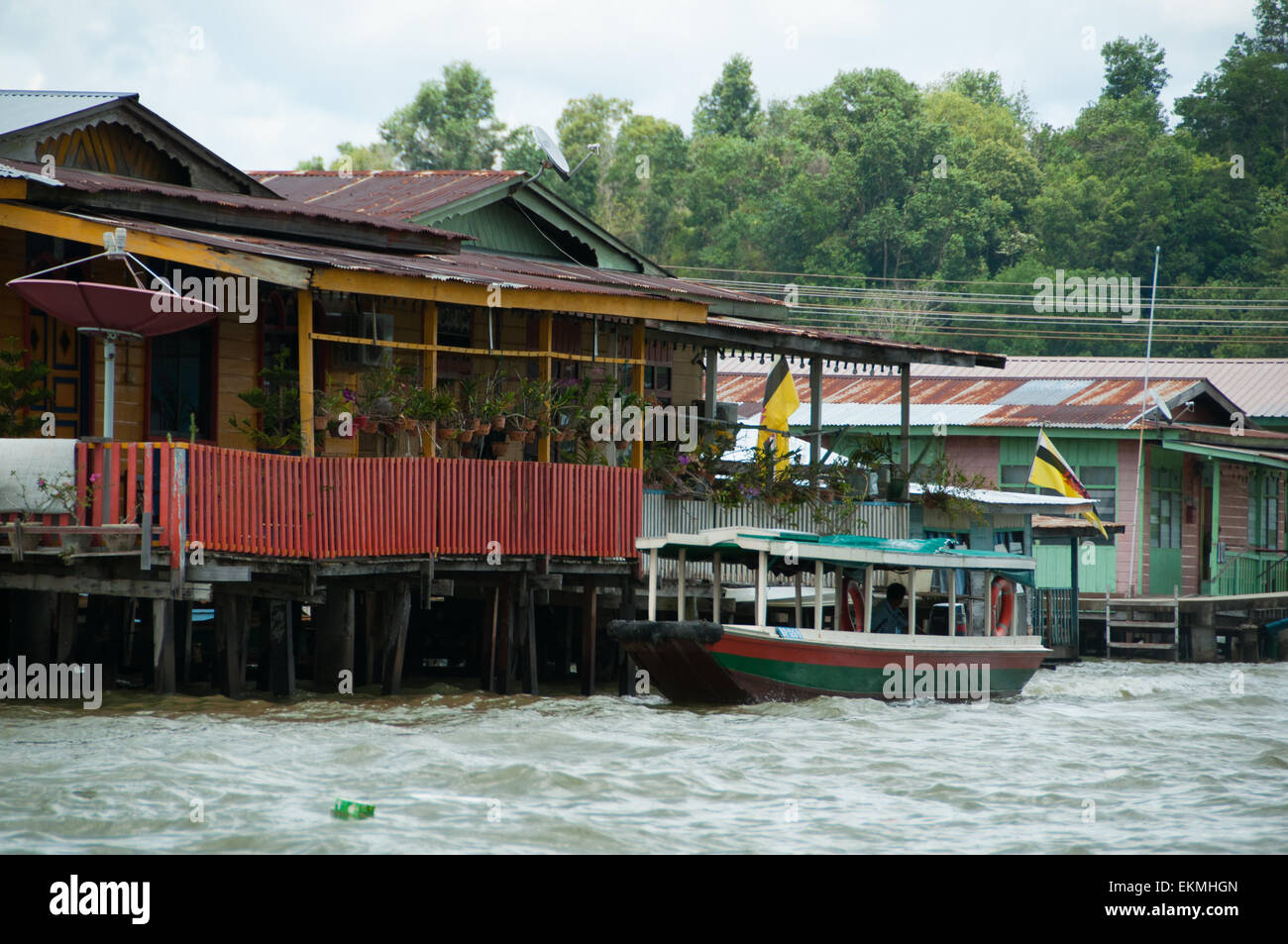 The Water village of Kampong Ayer, Bandar Seri Begawan, Brunei - Stock Image