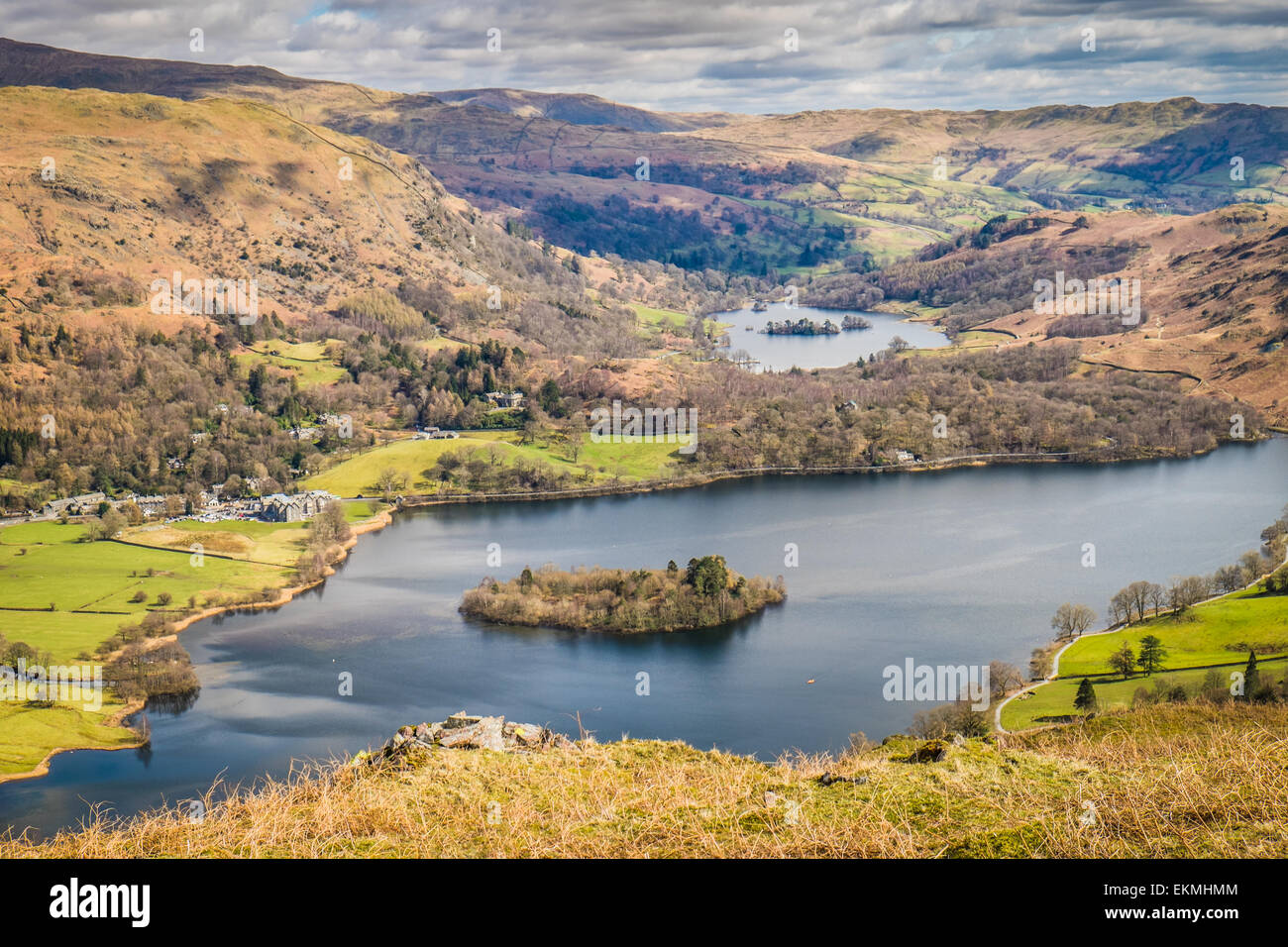 English landscape; View from Silver Howe Grasmere Cumbria England - Stock Image