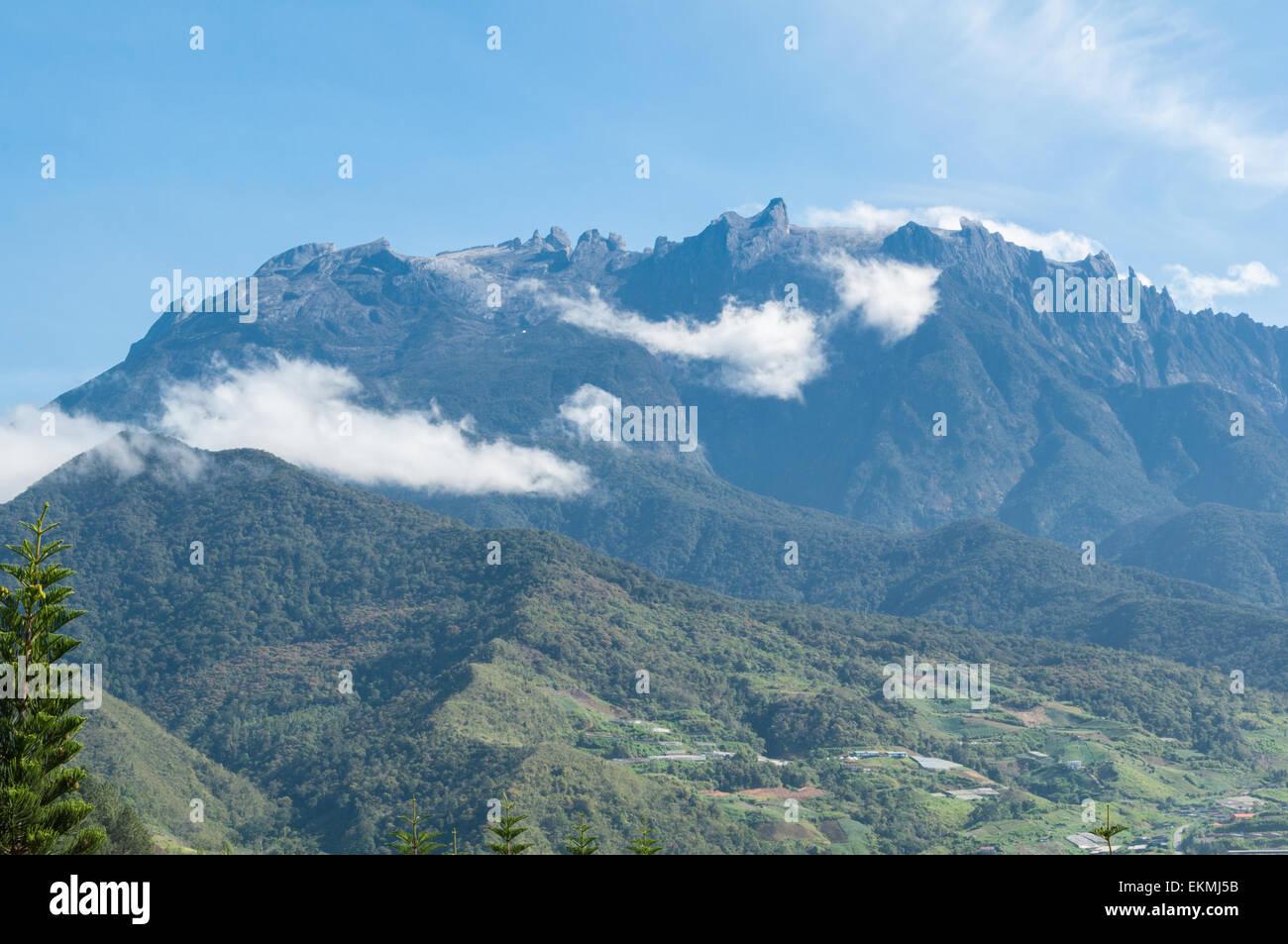 View of the Mount Kota Kinabalu, Borneo, Malaysia - Stock Image