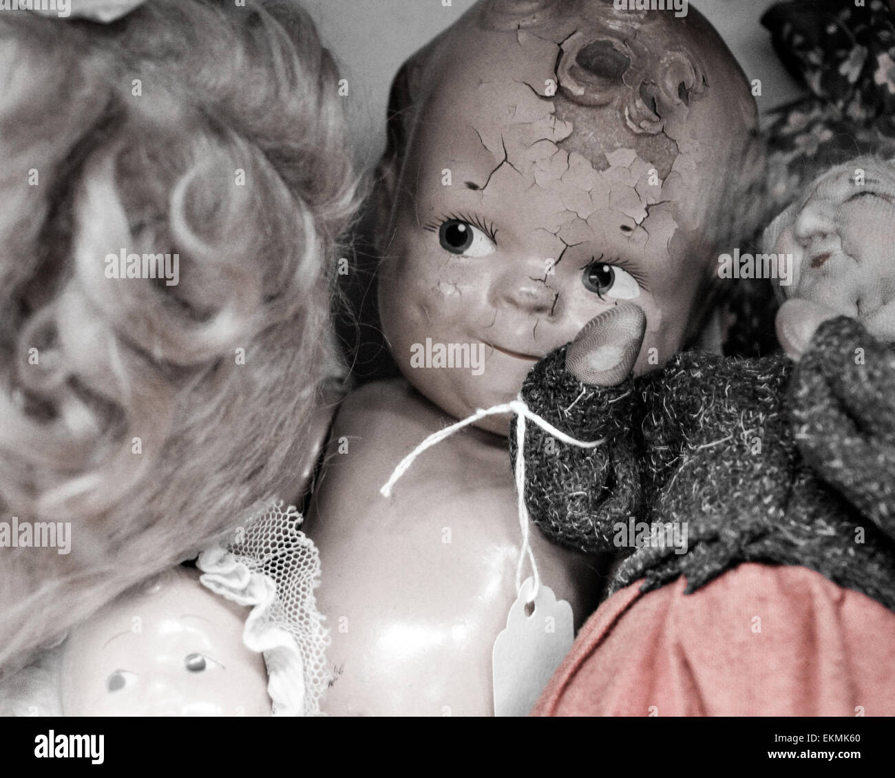 Old Vintage doll - Stock Image
