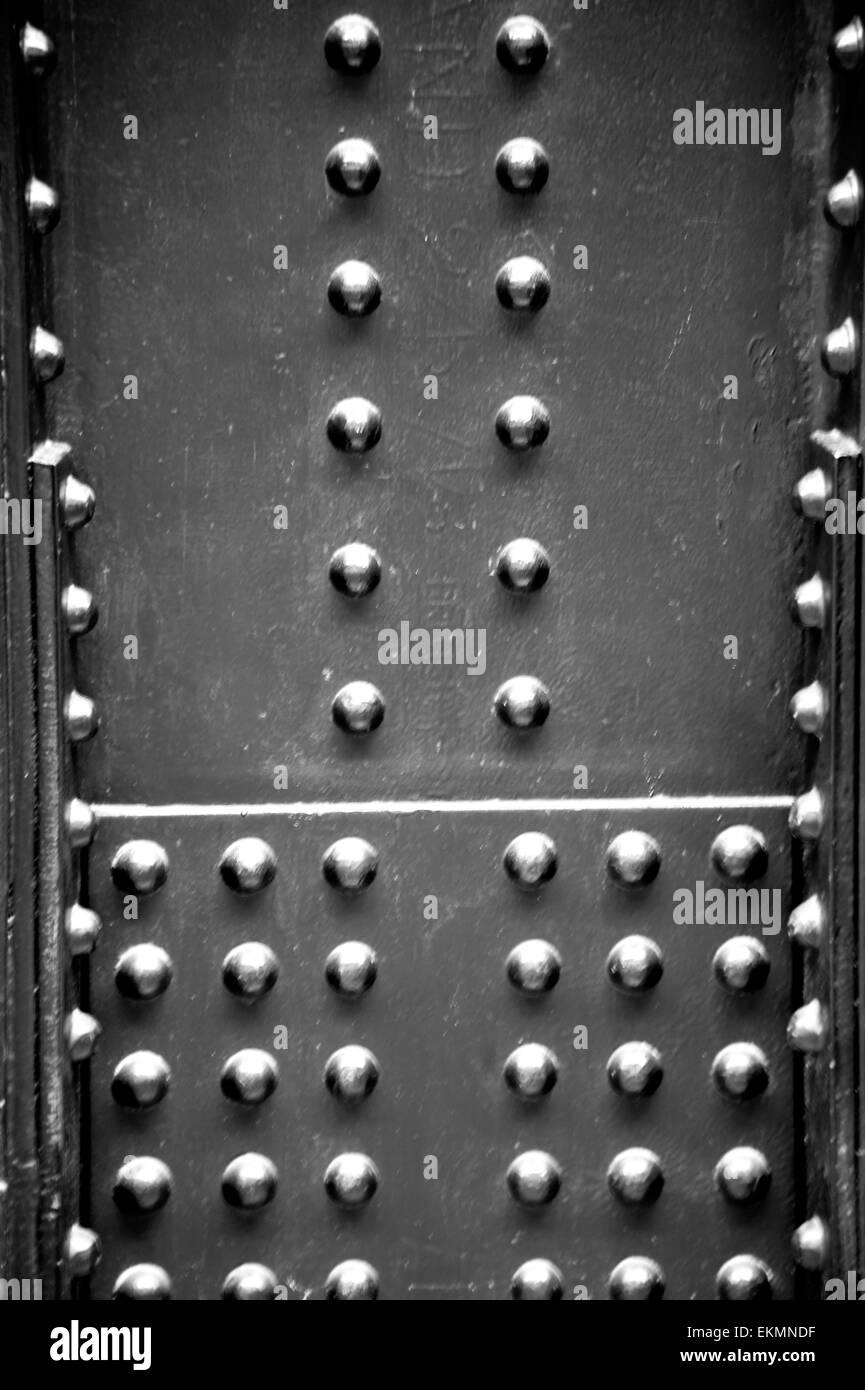 Steel rivets - Stock Image