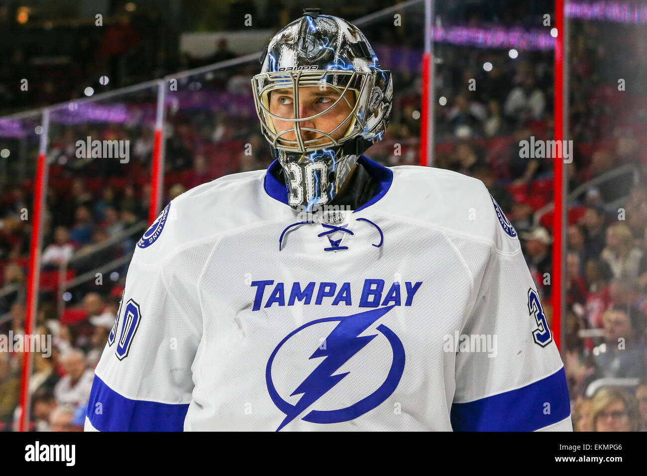 the latest f12e4 de2ce Tampa Bay Lightning goalie Ben Bishop (30) during the NHL ...