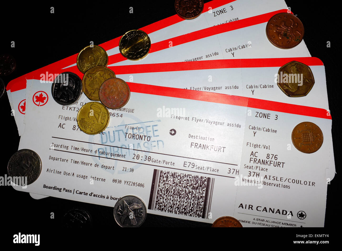 how to print boarding pass for upcoming air canada