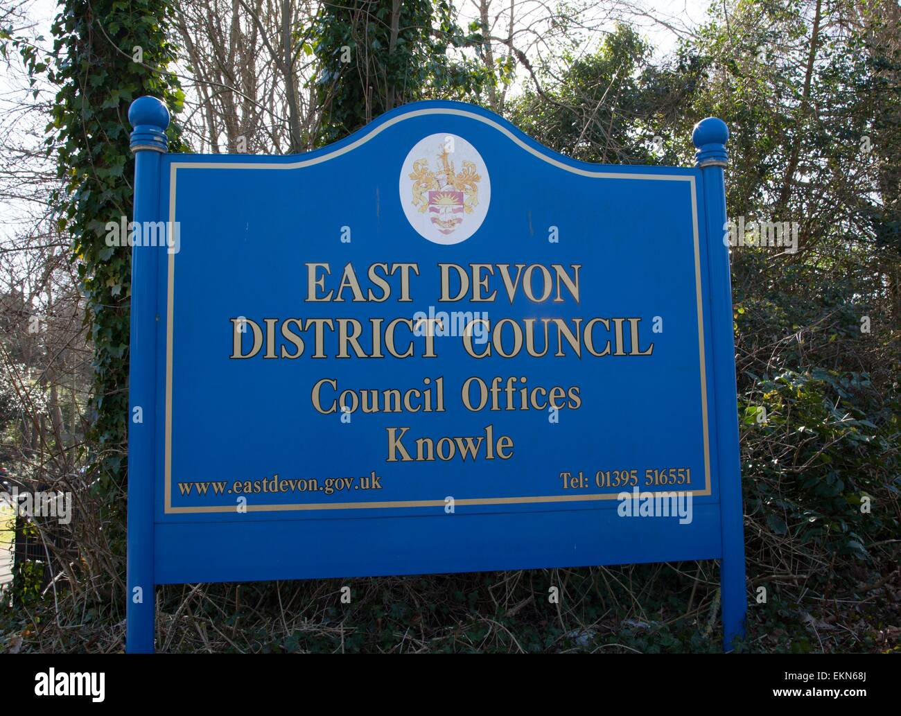East Devon District Council HQ, Knowle, Sidmouth, UK. 12th April, 2015. To be sold for development despite massive - Stock Image
