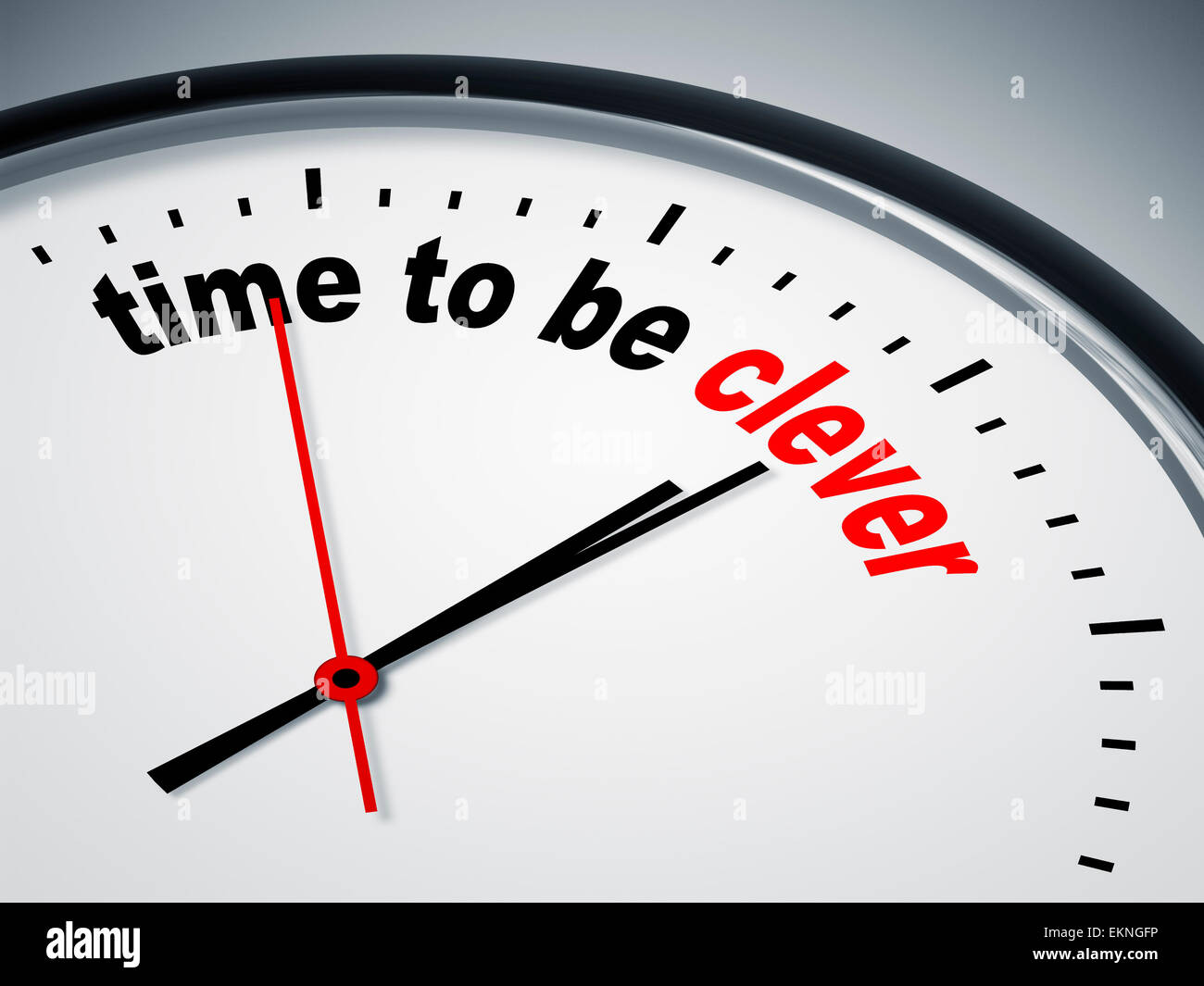 time to be clever - Stock Image