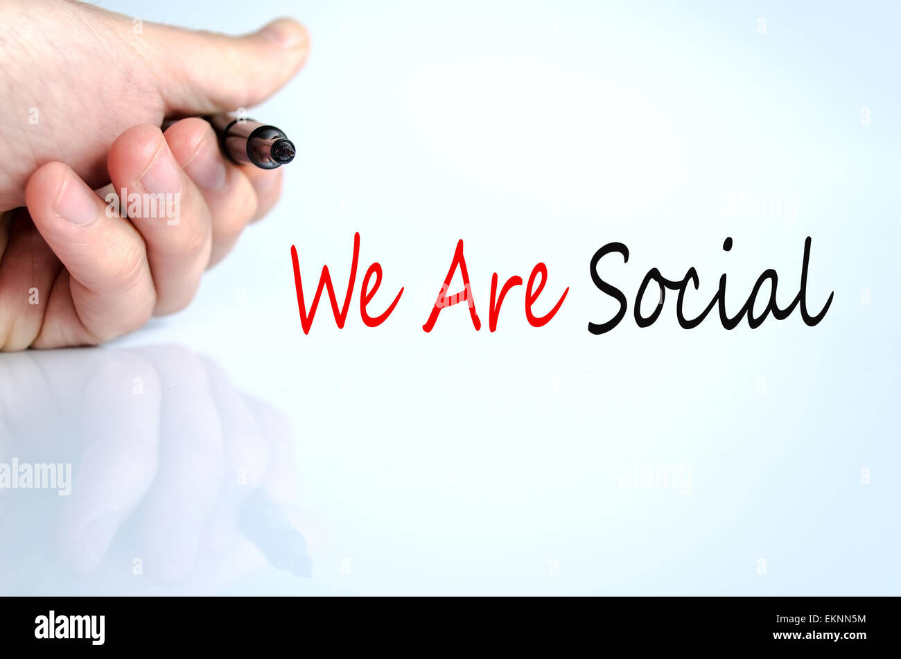 We Are Social Concept Isolated Over White Background - Stock Image
