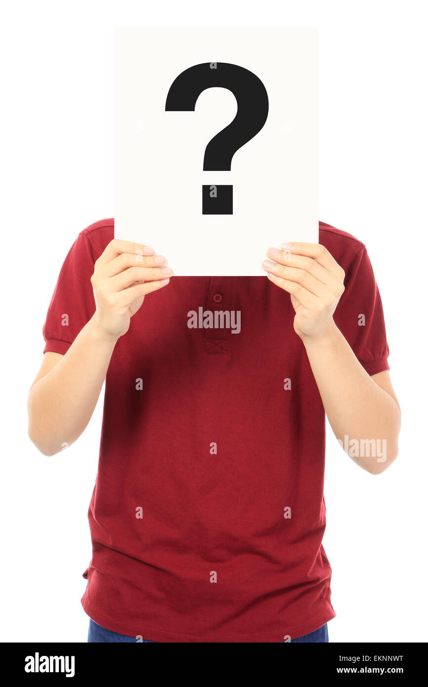 Teen With A Question - Stock Image