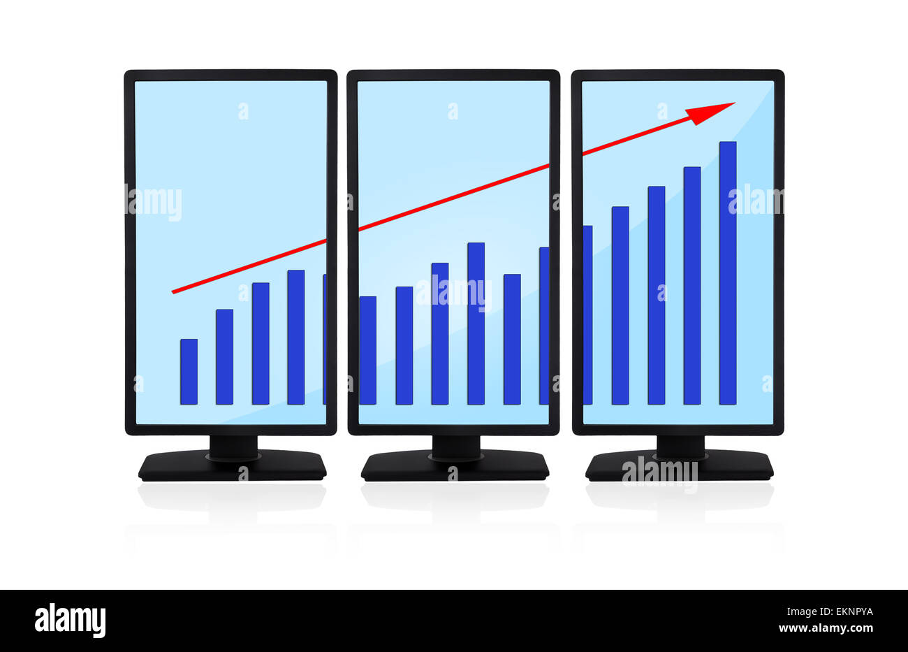 panels with chart - Stock Image
