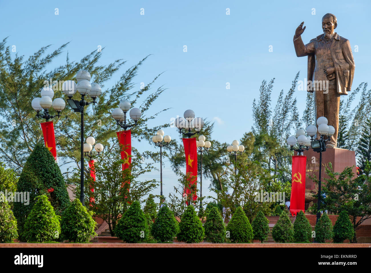 Ho Chi Minh Statue, Can Tho, Vietnam - Stock Image